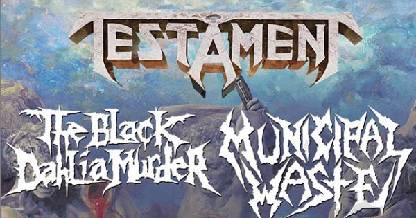 Testament North America tour 2020