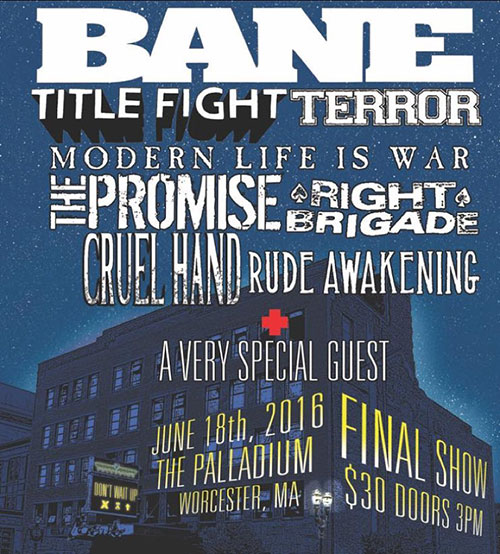 lineup for final Bane show