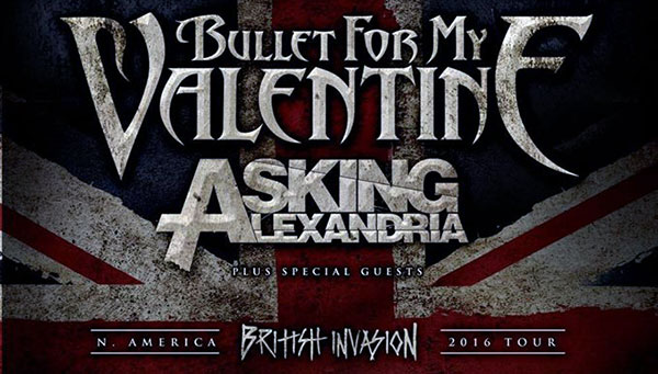 Bullet For My Valentine Asking Alexandria 2016 North America tour