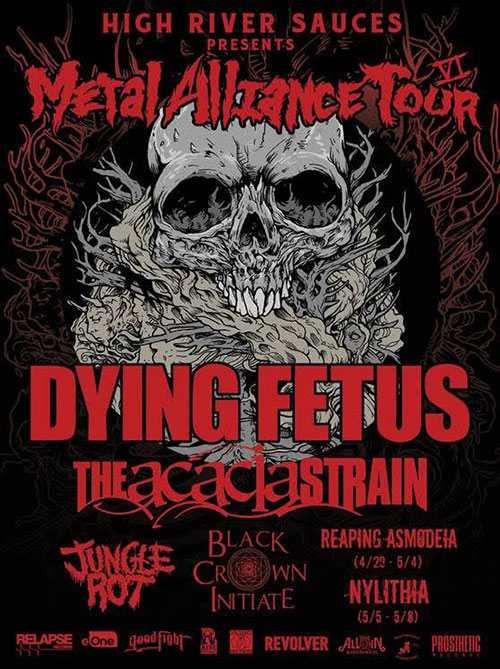 Metal Alliance Tour 2016 poster