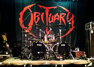 Obituary backdrop