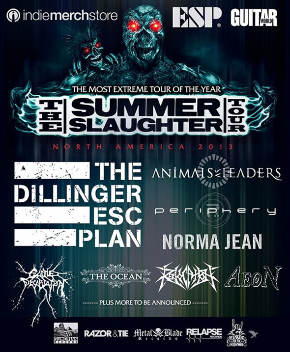 2012 Summer Slaughter lineup
