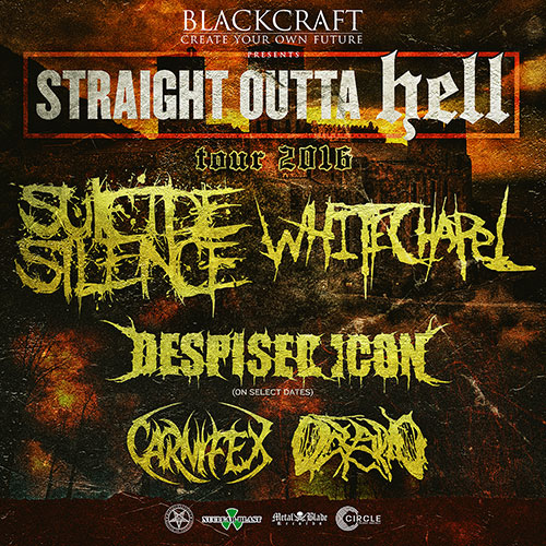 Suicide Silence and Whitechapel tour flyer